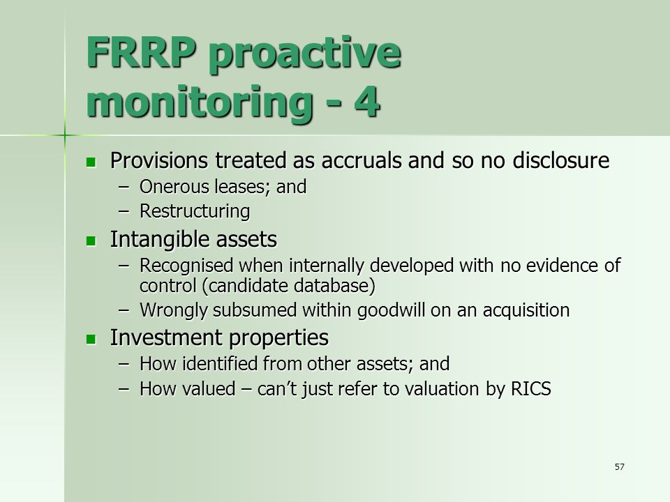 FRRP proactive monitoring - 4