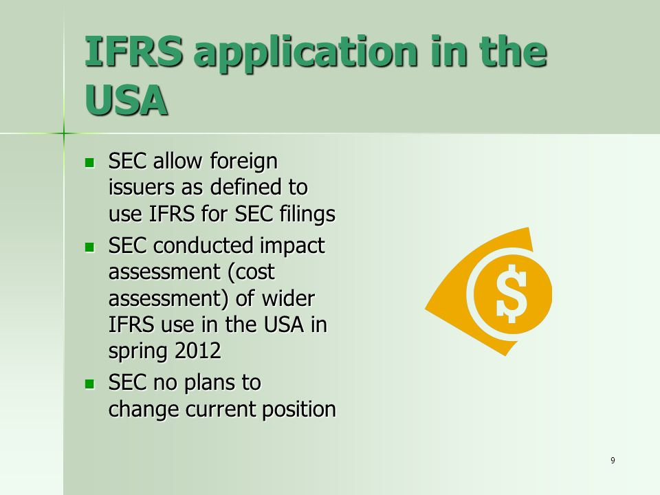 IFRS application in the USA