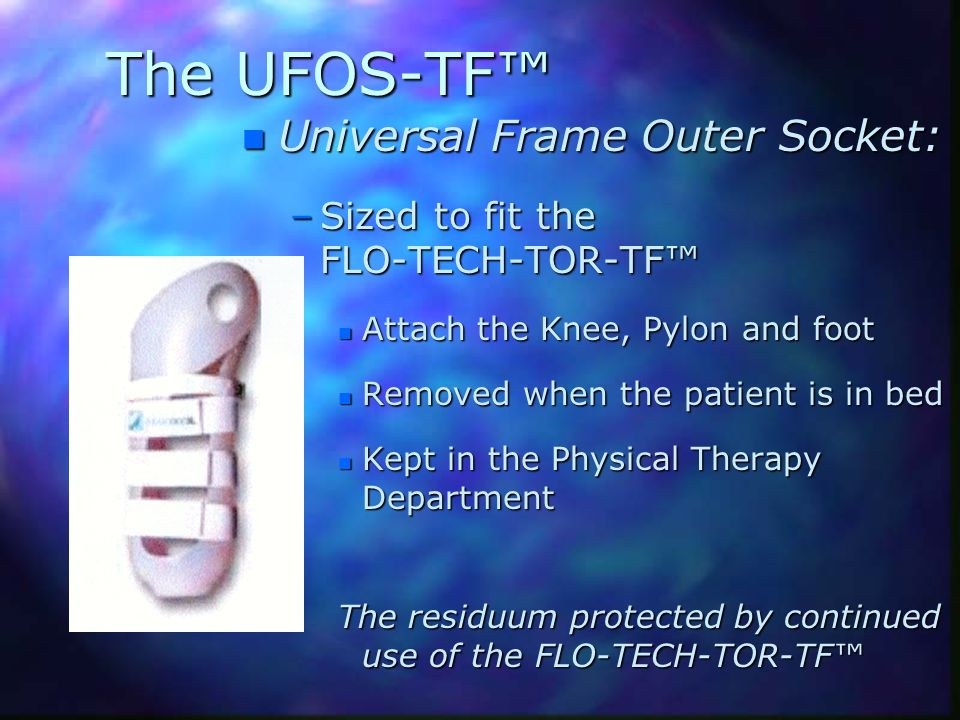 The UFOS-TF™ Universal Frame Outer Socket: