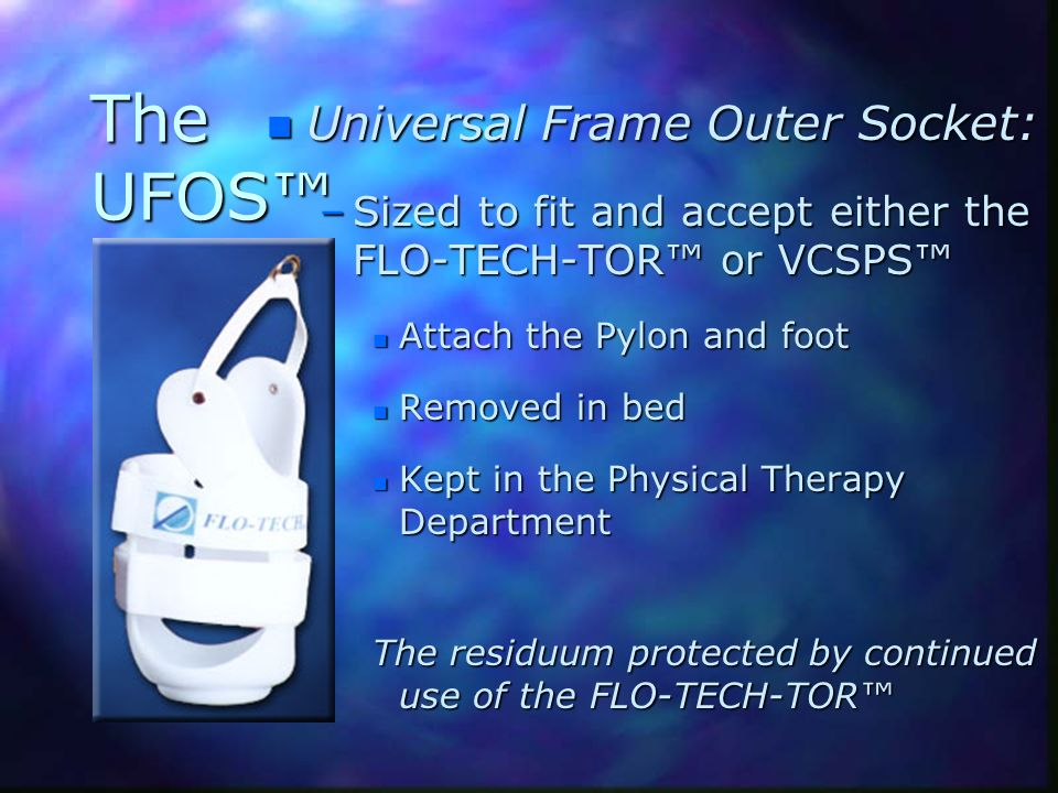 The UFOS™ Universal Frame Outer Socket: