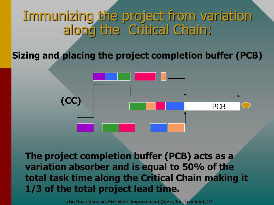 Immunizing the project from variation along the Critical Chain:
