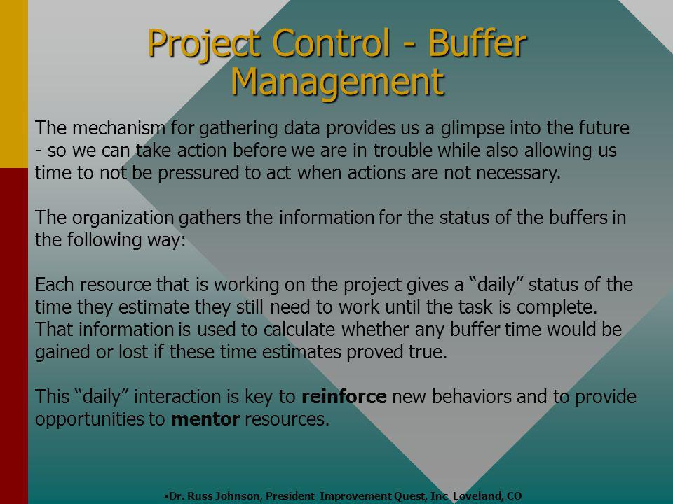 Project Control - Buffer Management