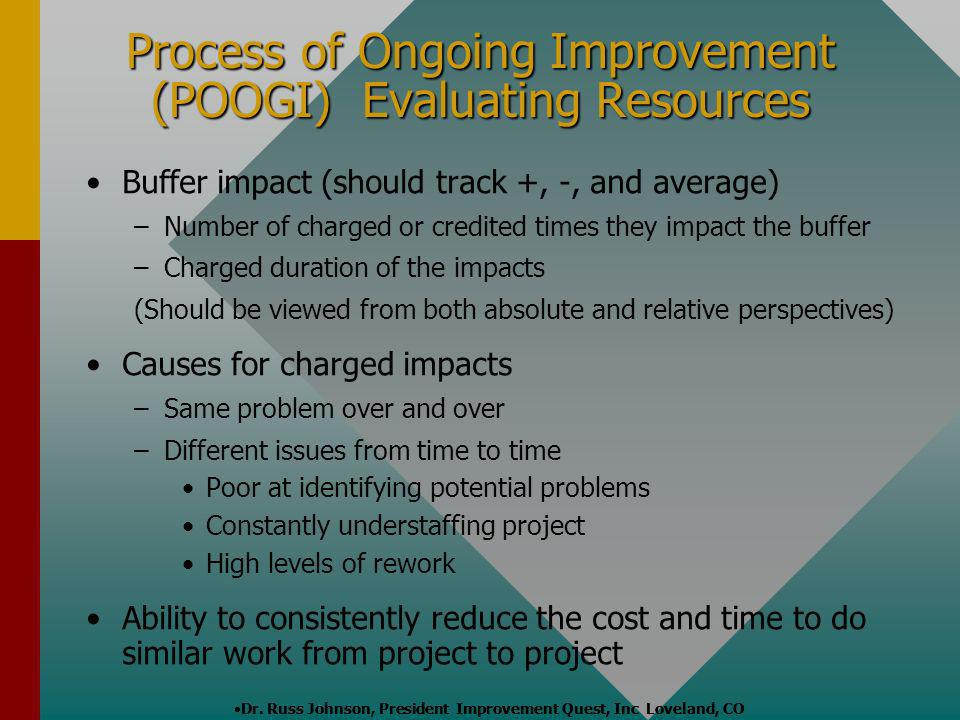 Process of Ongoing Improvement (POOGI) Evaluating Resources