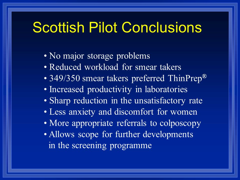 Scottish Pilot Conclusions