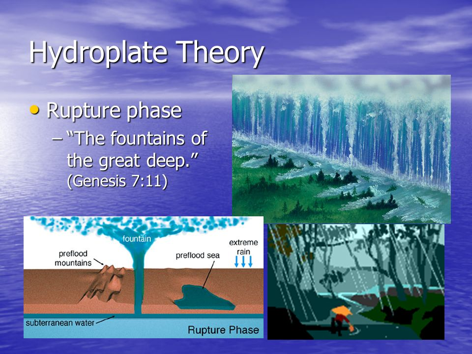 Hydroplate Theory Rupture phase
