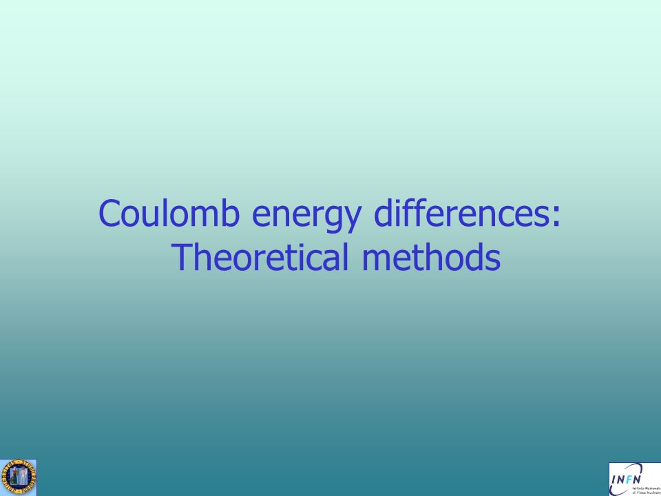Coulomb energy differences: Theoretical methods