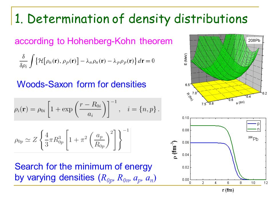 1. Determination of density distributions