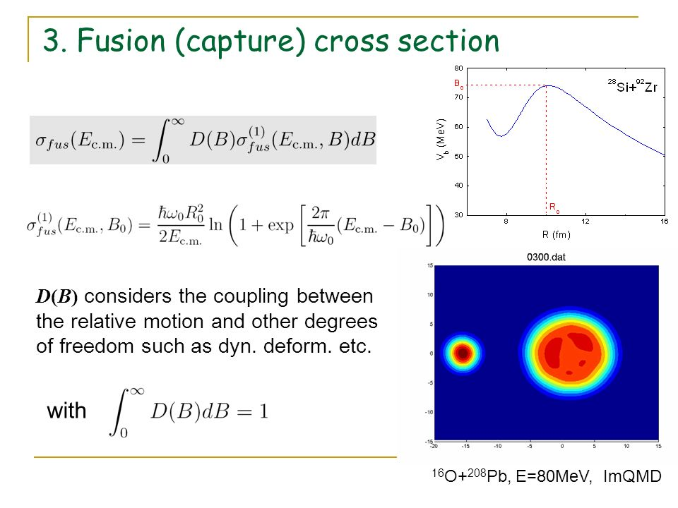 3. Fusion (capture) cross section
