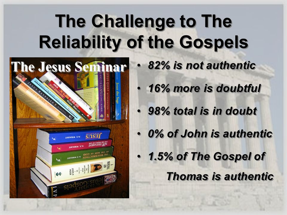 The Challenge to The Reliability of the Gospels