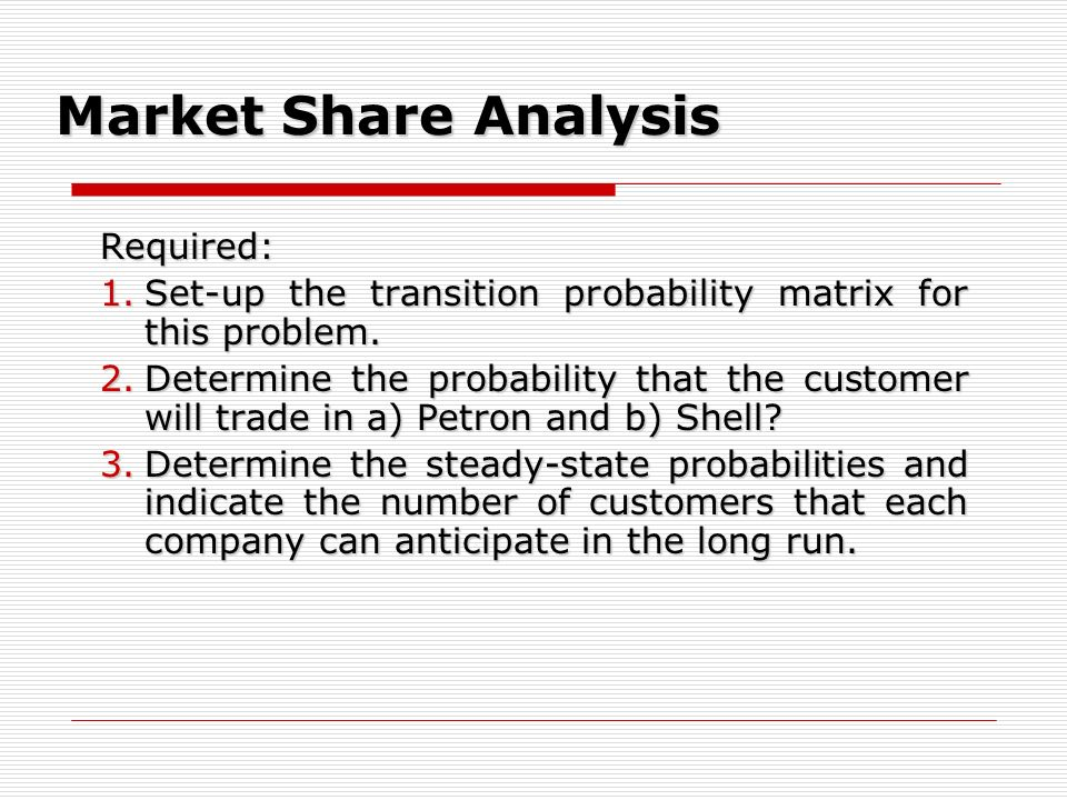 Market Share Analysis Required: