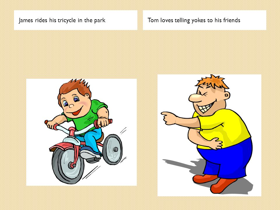 James rides his tricycle in the park