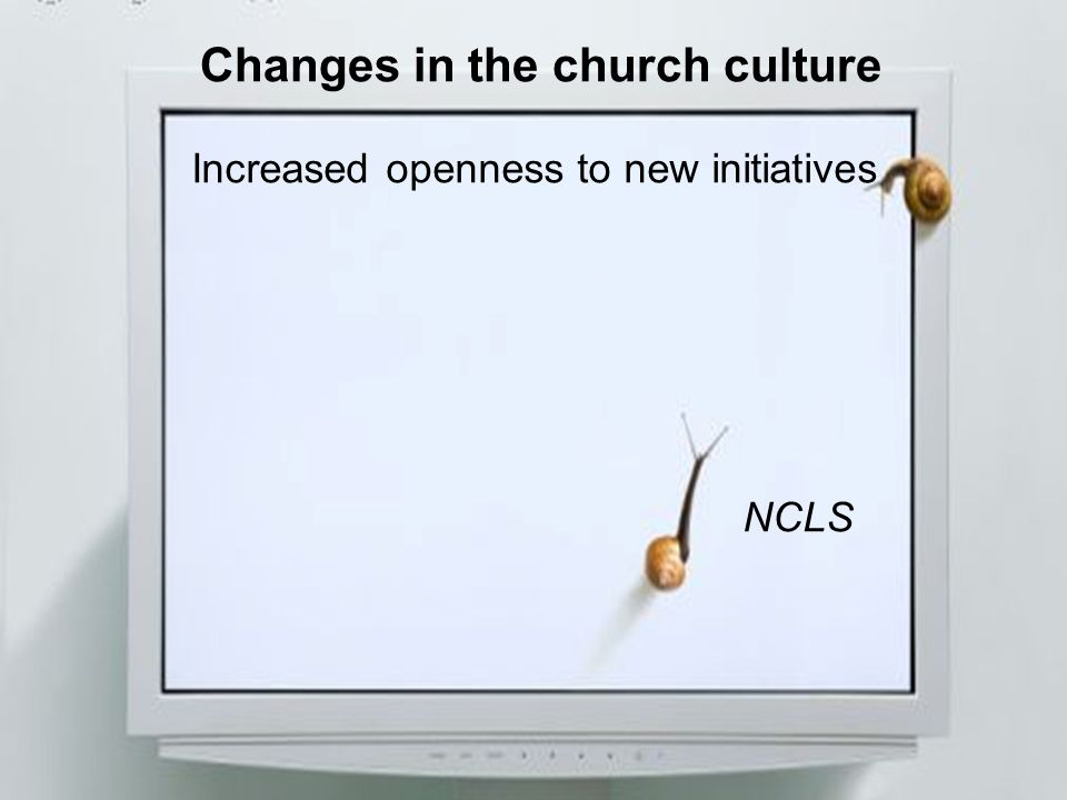 Changes in the church culture