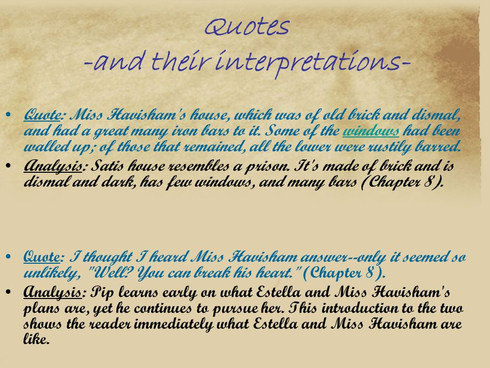 Quotes -and their interpretations-
