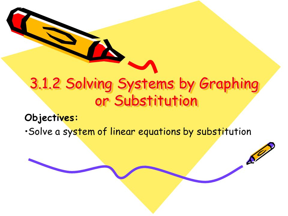 3.1.2 Solving Systems by Graphing or Substitution
