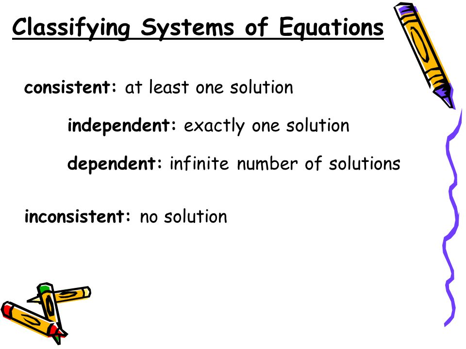 Classifying Systems of Equations