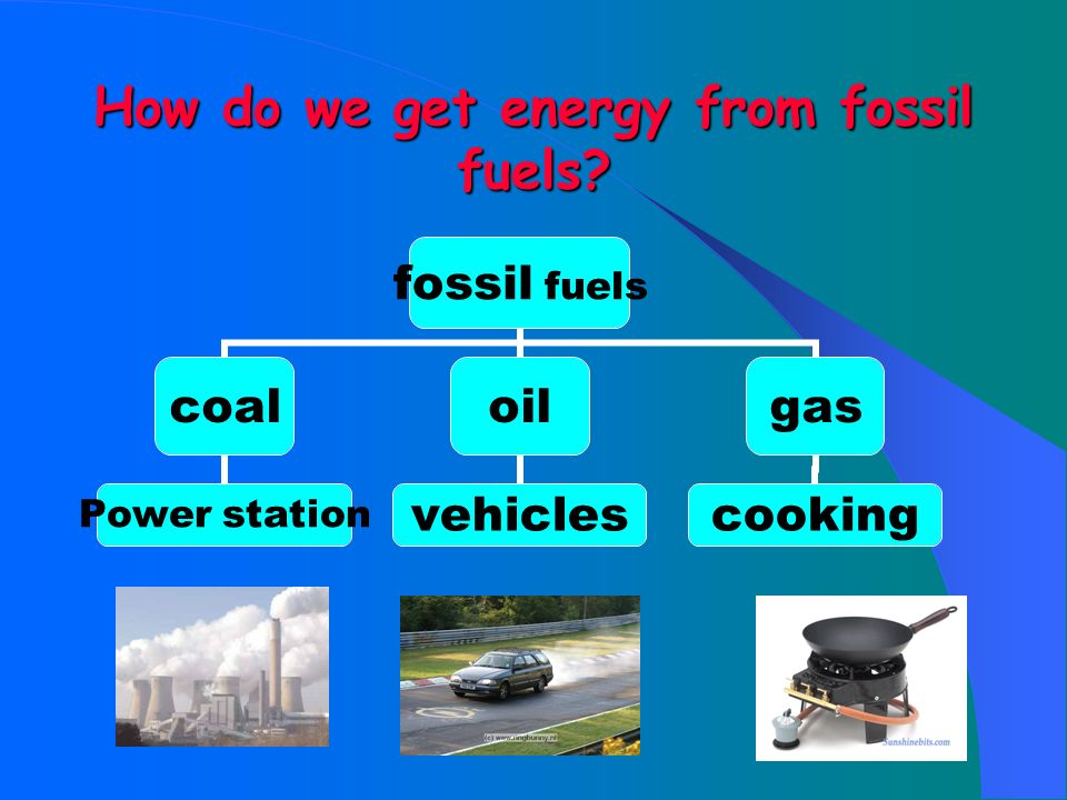 How do we get energy from fossil fuels