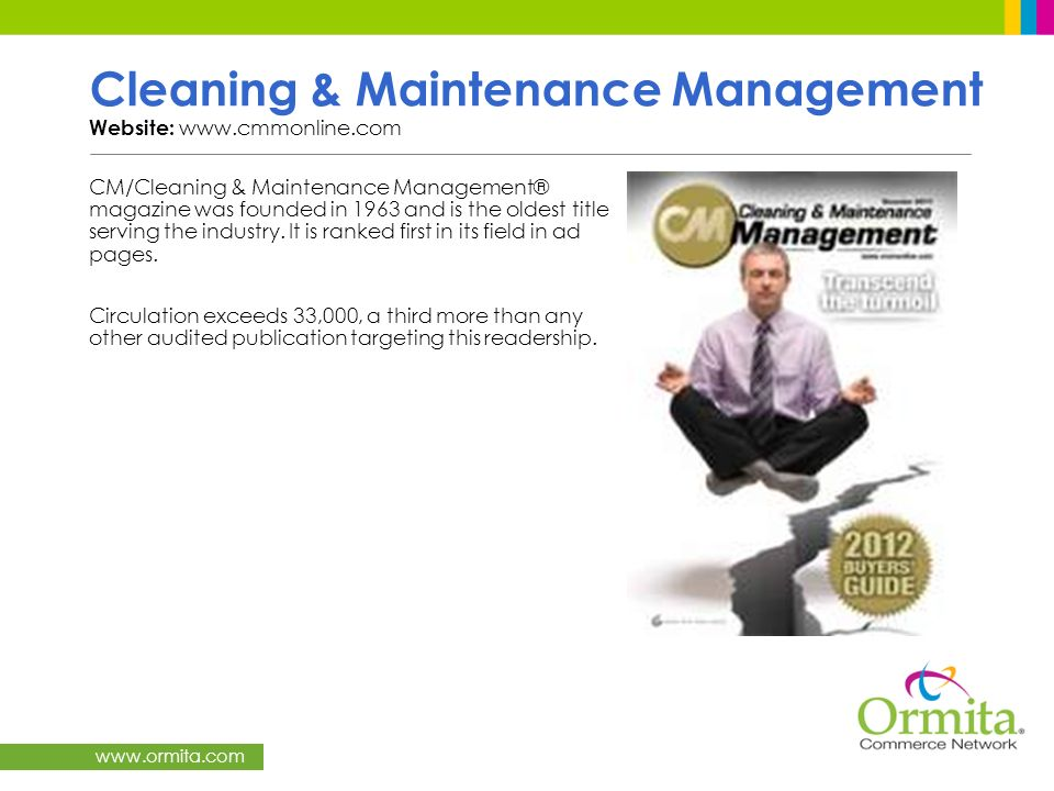 Cleaning & Maintenance Management Website: www.cmmonline.com
