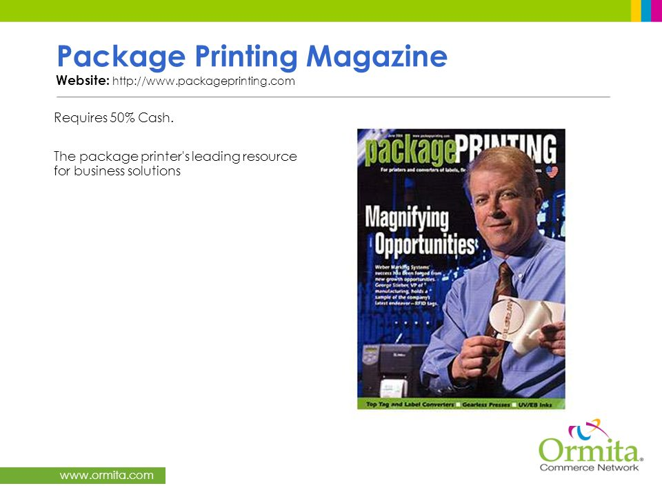 Package Printing Magazine Website: http://www.packageprinting.com