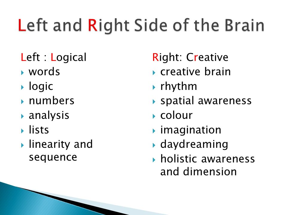 Left and Right Side of the Brain