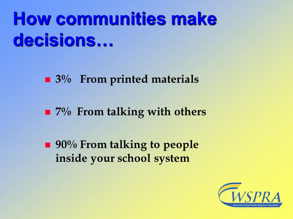 How communities make decisions…