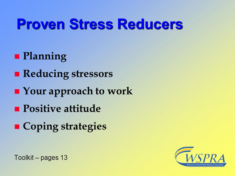 Proven Stress Reducers