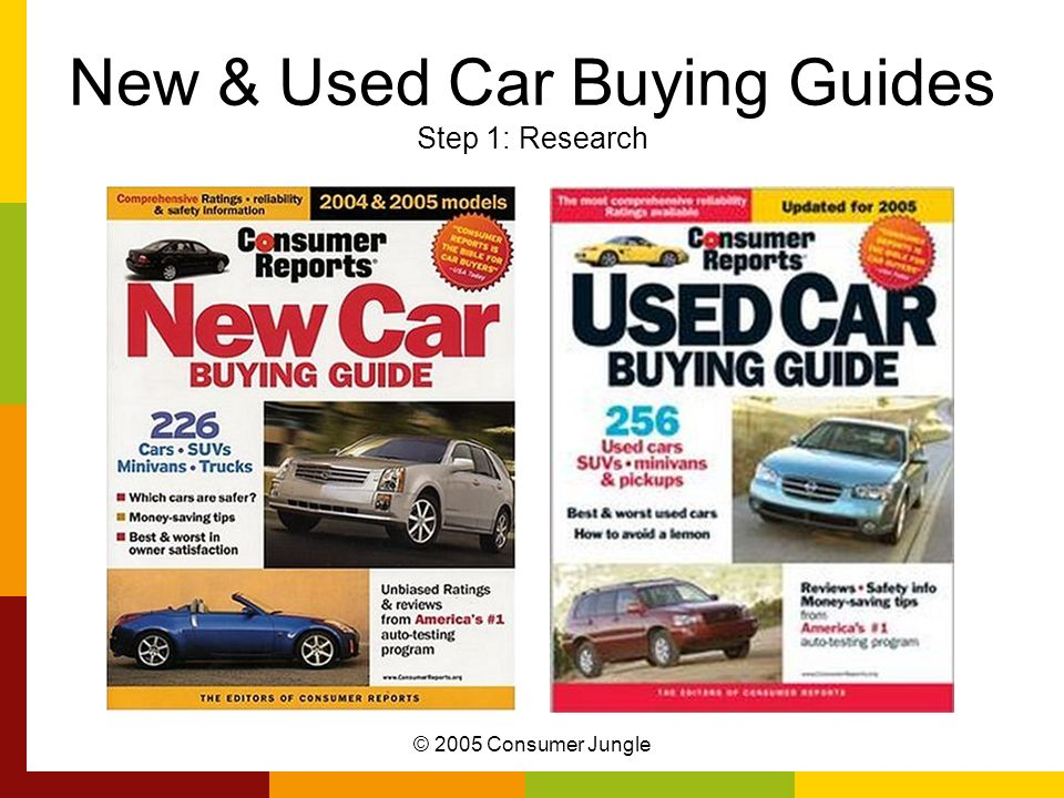 New & Used Car Buying Guides Step 1: Research