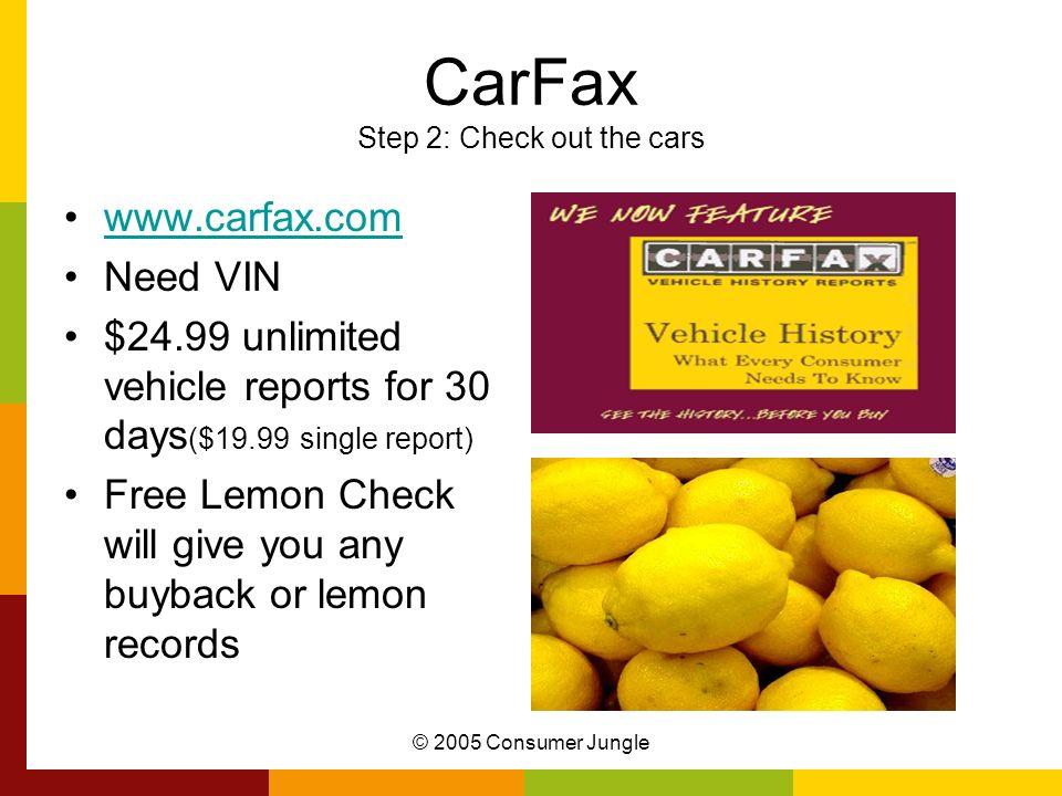 CarFax Step 2: Check out the cars