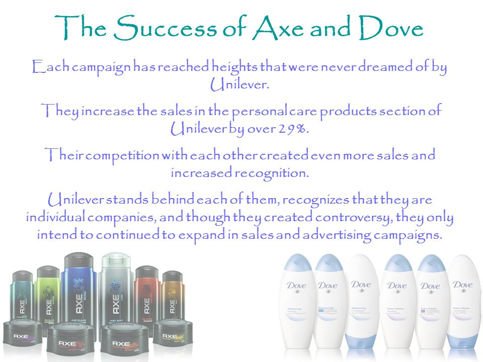 The Success of Axe and Dove