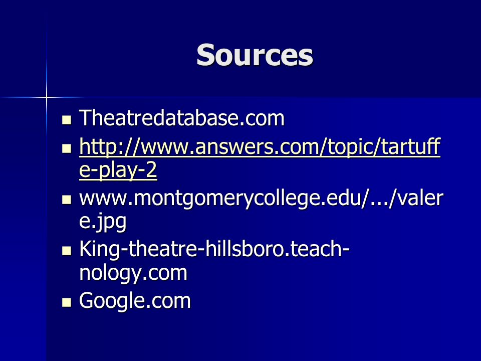 Sources Theatredatabase.com