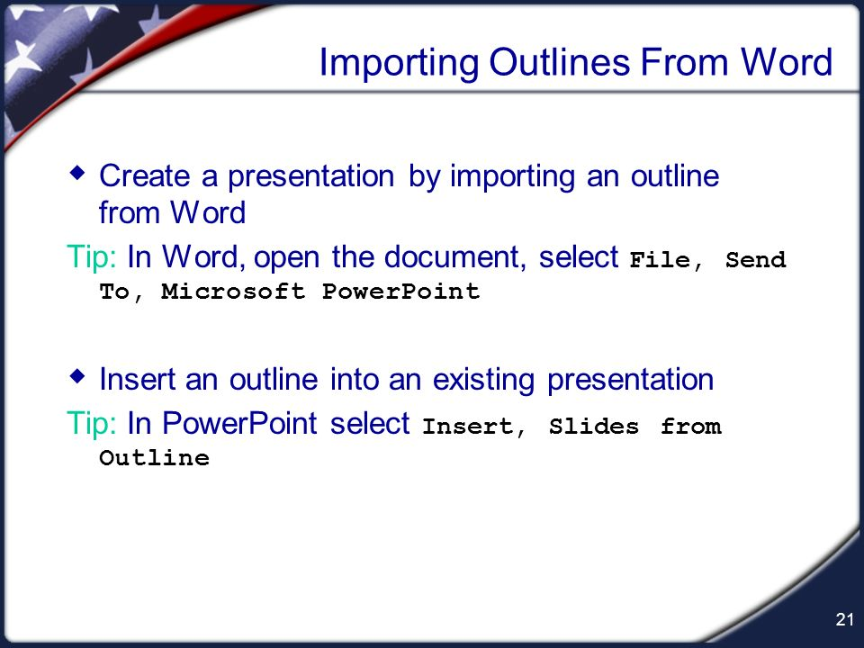 Importing Outlines From Word