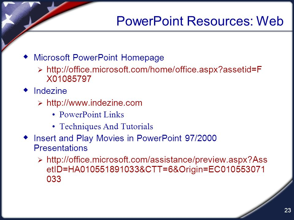PowerPoint Resources: Web