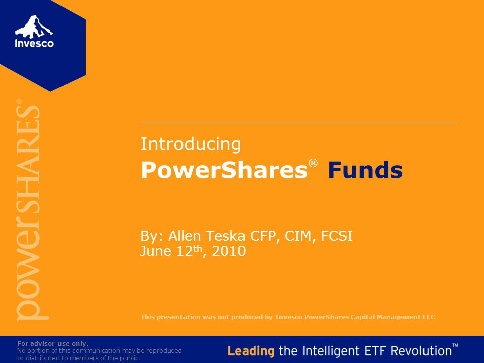Introducing PowerShares® Funds