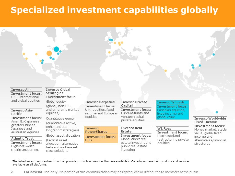Specialized investment capabilities globally