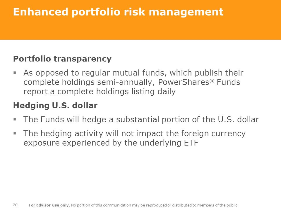 Enhanced portfolio risk management