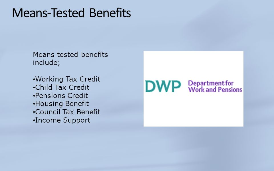 Means-Tested Benefits