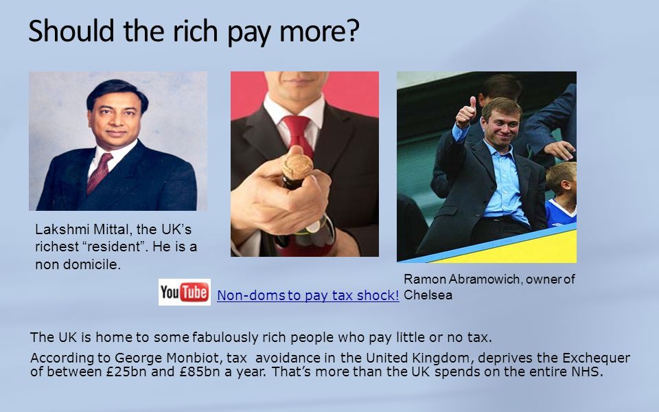 Should the rich pay more