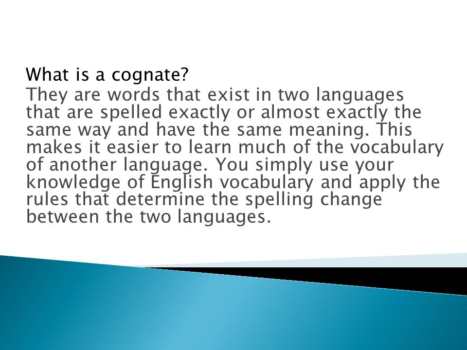 What is a cognate