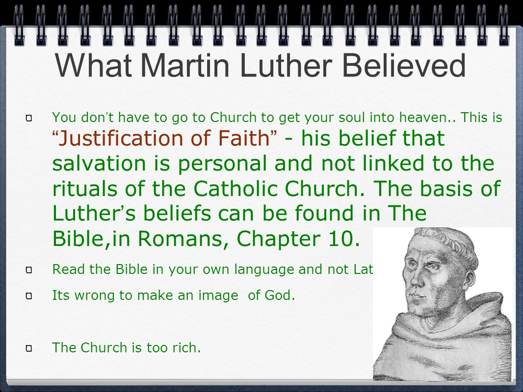 What Martin Luther Believed