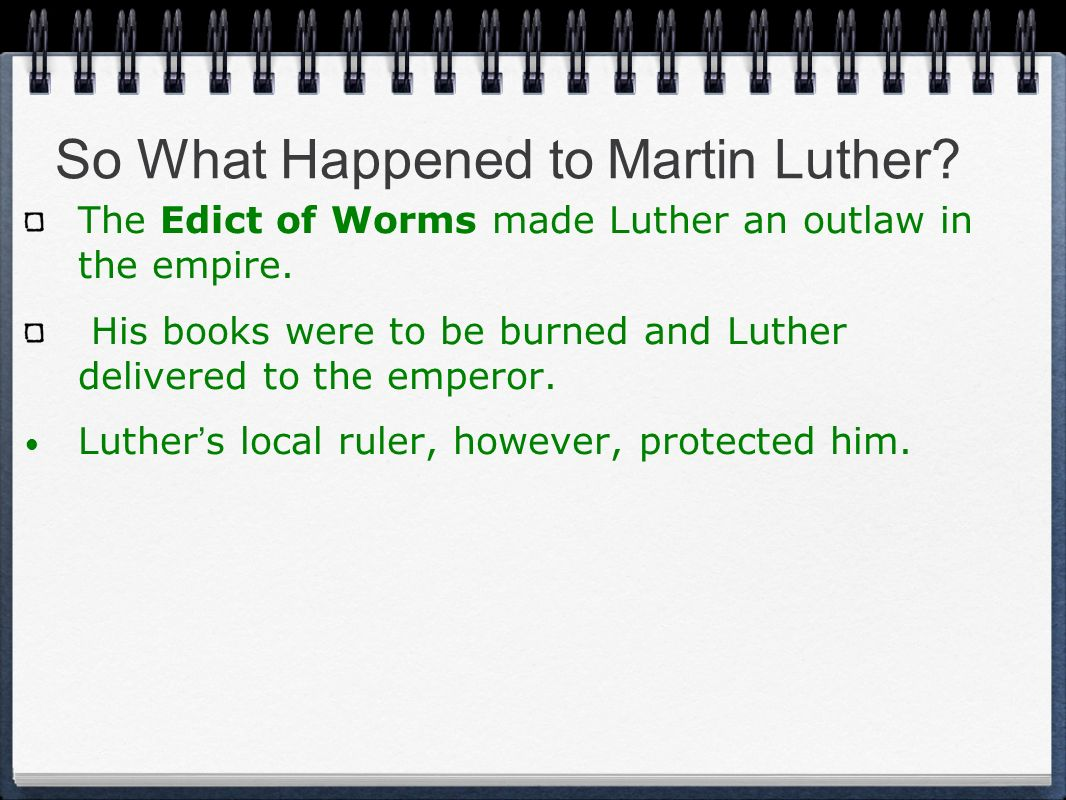So What Happened to Martin Luther