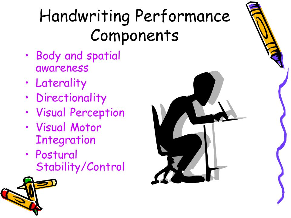 Handwriting Performance Components