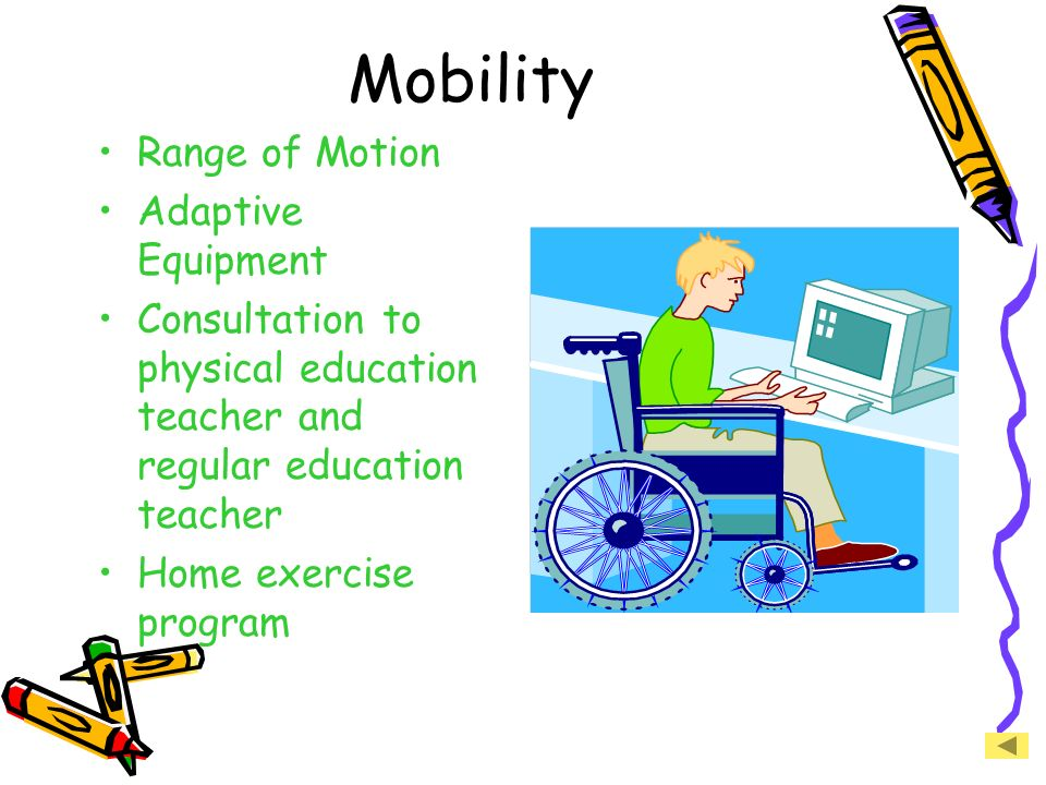 Mobility Range of Motion Adaptive Equipment