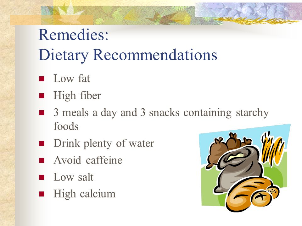 Remedies: Dietary Recommendations