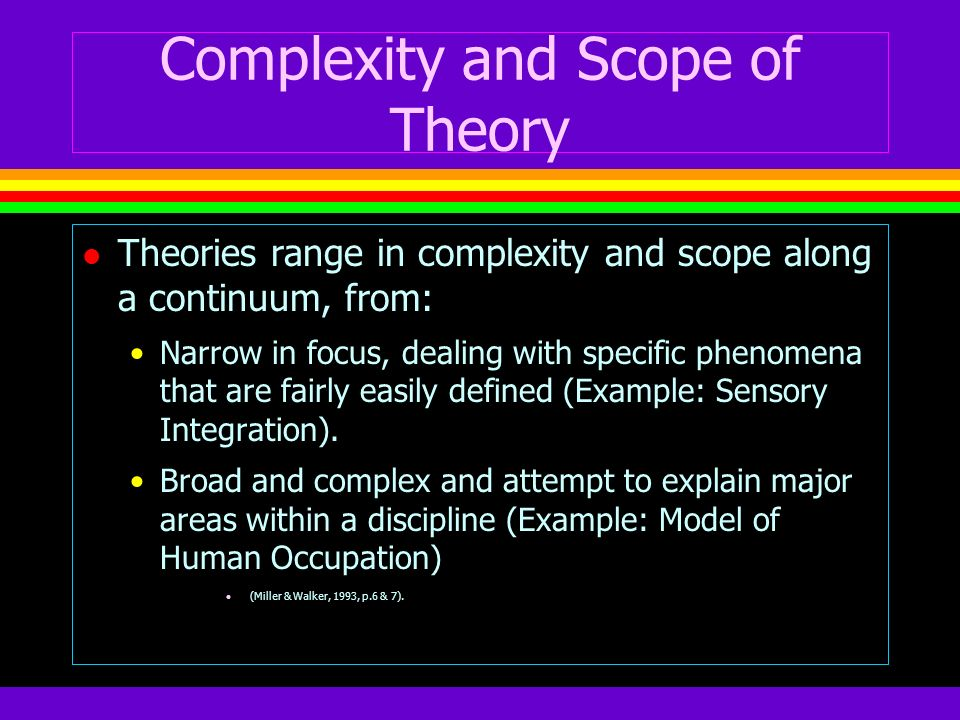 Complexity and Scope of Theory