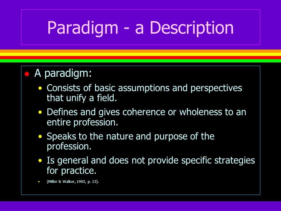 Paradigm - a Description
