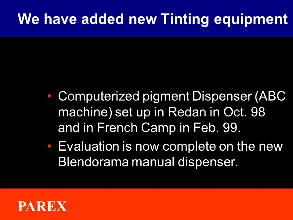 We have added new Tinting equipment