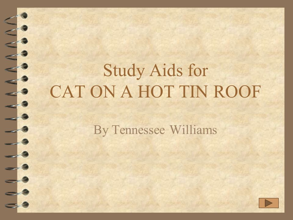 Study Aids For CAT ON A HOT TIN ROOF Ppt Download