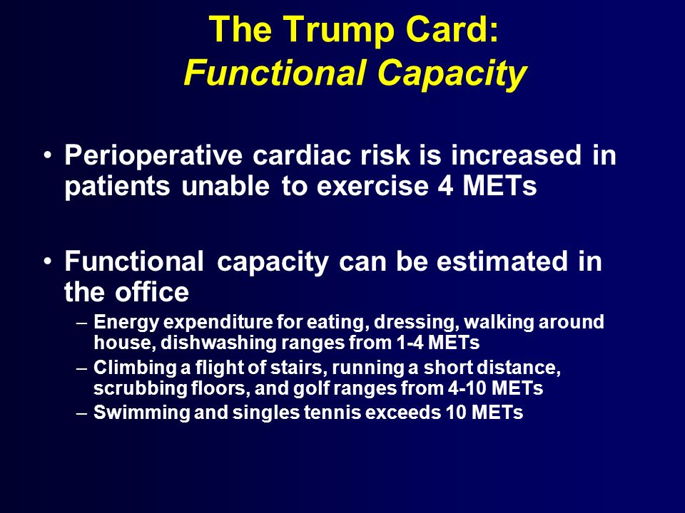The Trump Card: Functional Capacity