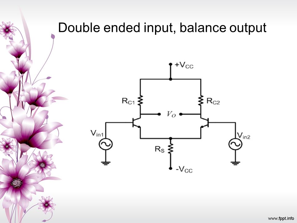 Double ended input, balance output