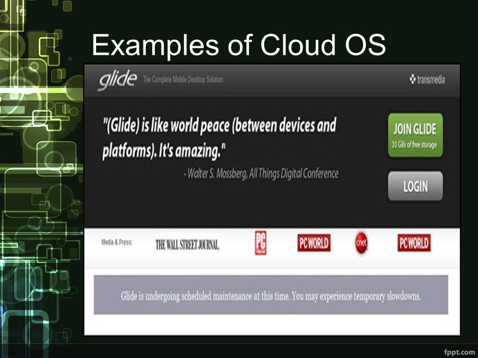 Examples of Cloud OS