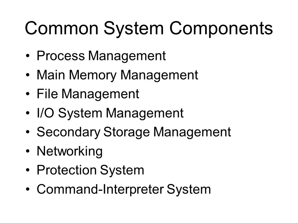 Common System Components